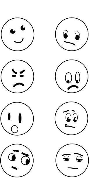 Gallery For u0026gt; Emotions Faces Chart Color